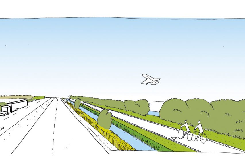 highway-perspective-bekkering adams architects-feddes-olthof-landscape architects